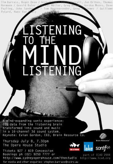 Listening to the Mind Listening Poster